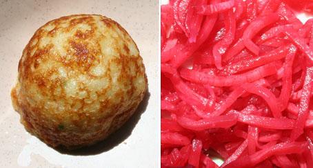 たこ焼きと紅生姜