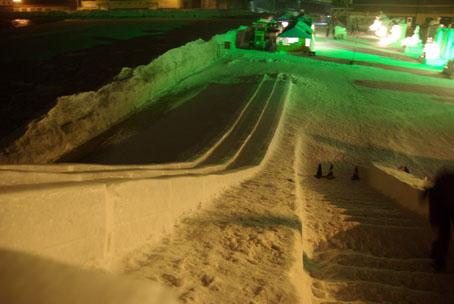 2011流氷まつり・滑り台