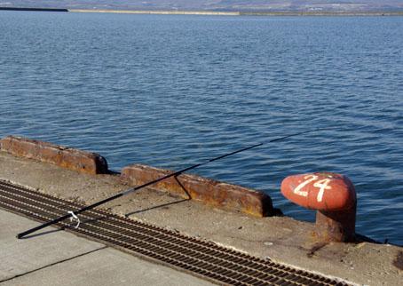 能取湖で釣り