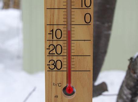 気温氷点下4度