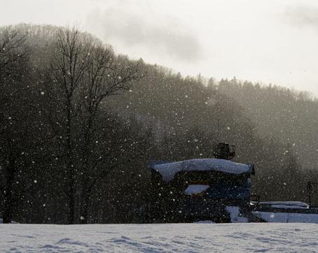 天気雪の風景