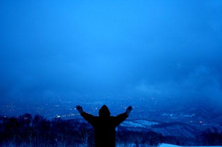 手稲山頂上からの夜景