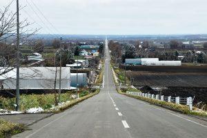 斜里の直線道路